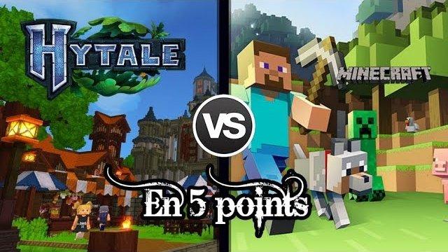 Vidéo Hytale VS Minecraft - Les 5 points les plus abordés