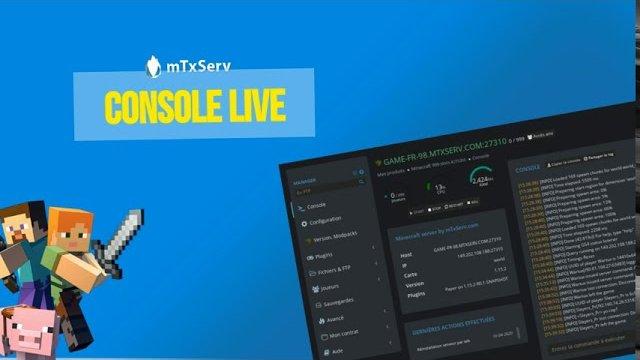 Vidéo Console Live (logs & debug) pour votre serveur Minecraft